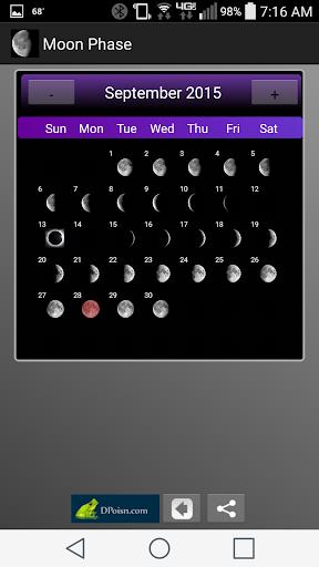 玩免費天氣APP|下載Moon Phase Widget Free app不用錢|硬是要APP