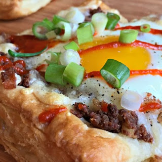 Corned Beef Hash & Egg Pastry Squares.
