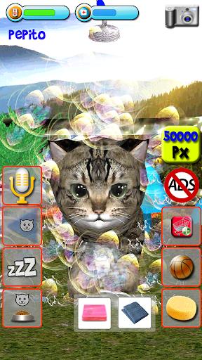 Talking Kittens virtual cat that speaks, take care apkmr screenshots 6