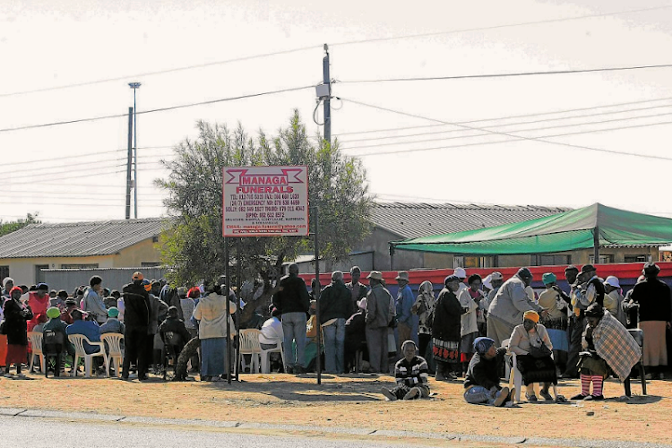 Pensioners and residents of Soshanguve, north of Pretoria, wait at a Cash PayMaster Services ' cash loan service point in this 2013 file photo.   Picture: SOWETAN/PEGGY NKOMO