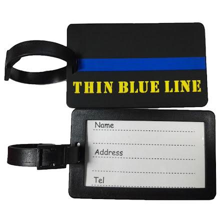 Bagagetag Thin Blue Line