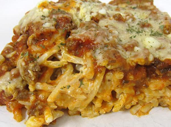 Baked Cream Cheese Spaghetti Recipe