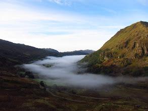Photo: Early morning mist over Llynn Gwynant