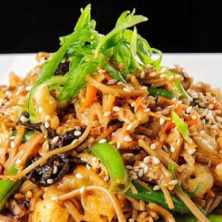 Soba Noodles With Shrimp And Shiitake
