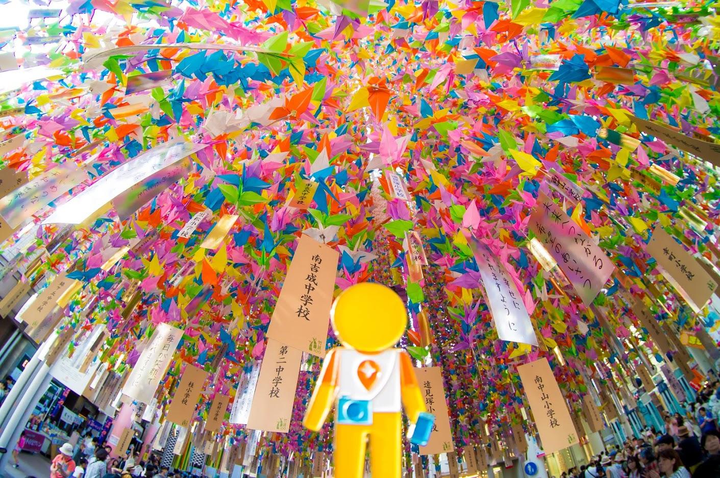 Một lễ hội nghệ thuật lớn của Nhật Bản Sendai Tanabata 5