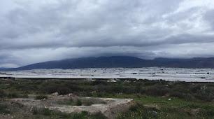 Imagen de la Sierra de Gádor durante el temporal.