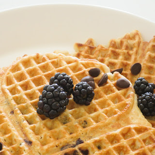 Blackberry Chocolate Chip Waffles