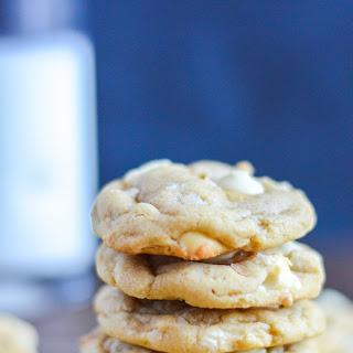 Chewy White Chocolate Macadamia Nut Cookies.