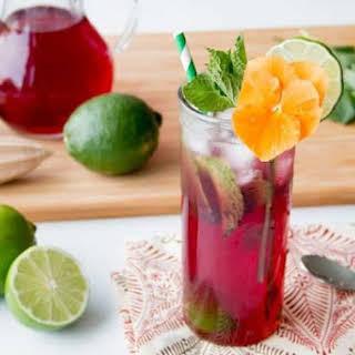 Hibiscus Lime Spritzer Cocktail.