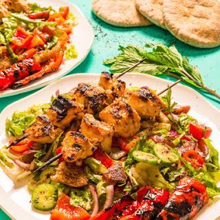Fattoush Salad and Shish Tawook.
