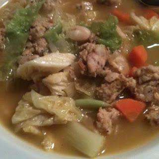 Chicken Sausage, White Bean and Cabbage Soup