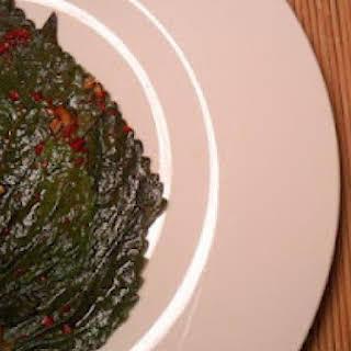 Kkaetnip Jangajji (Korean Pickled Perilla Leaves).