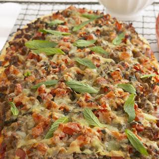 Mediterranean Lamb Pizza.