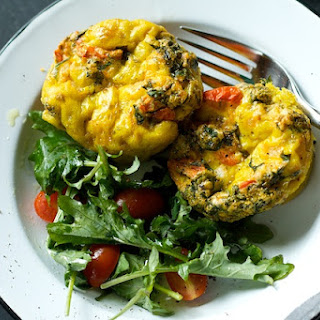 Kale, Potato, Tomato and Onion Mini-Frittatas