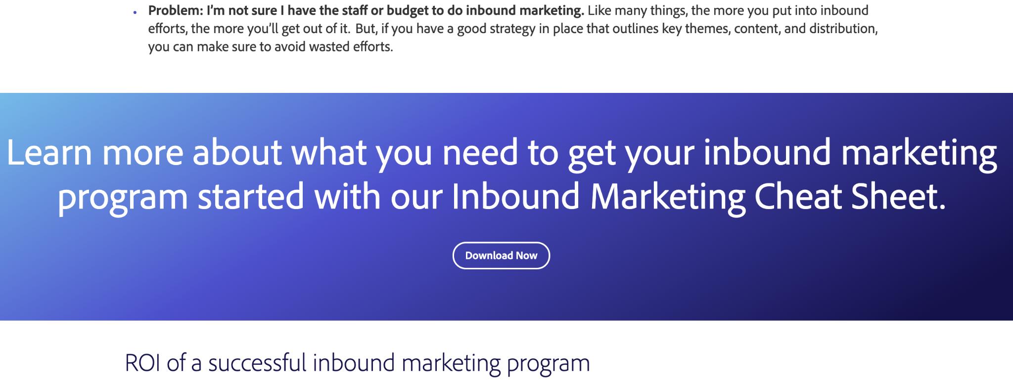 مثال تبدیل بازاریابی ورودی