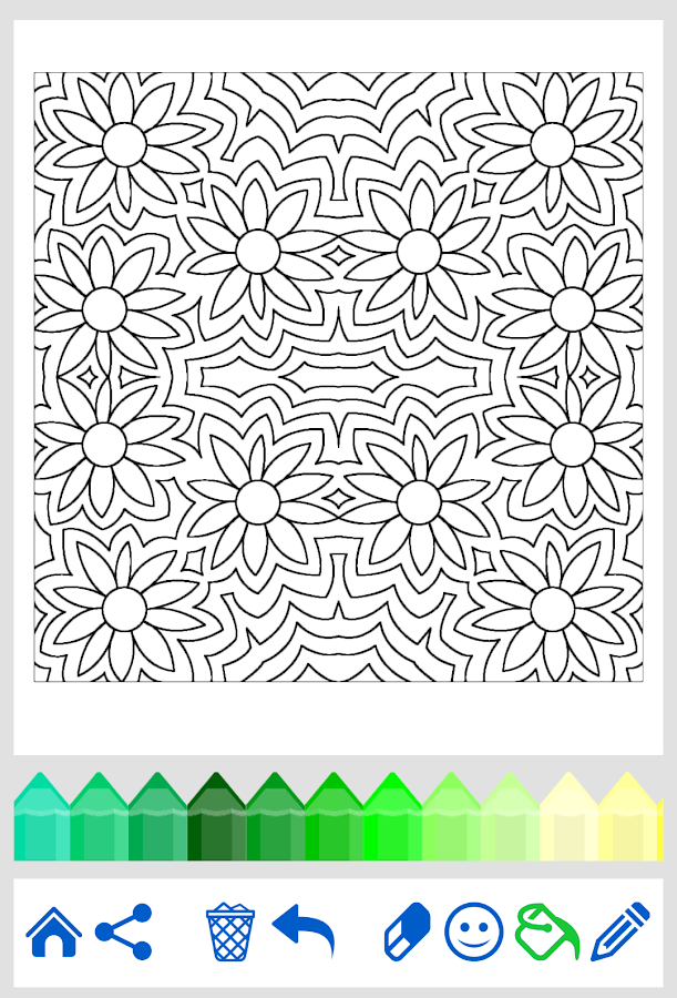Coloring Pages App Android : Adult coloring flowers android apps on google play