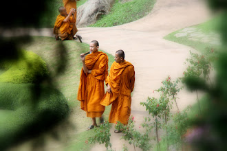 Photo: Day 339 -  Monks in the Gardens of the Doi Tung Royal Villa