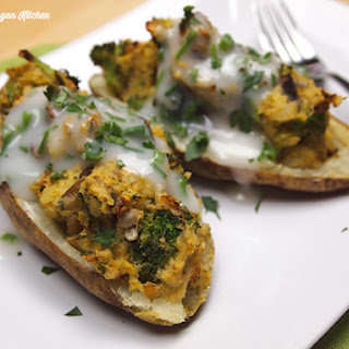 Leek and Wild Mushroom-Stuffed Potato Skins Recipe