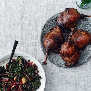 Braised Duck Legs with Polenta and Wilted Chard