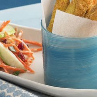 Crunchy Fish Sticks with Carrot-Apple Slaw