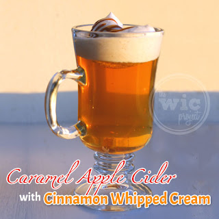 Caramel Apple Cider with Cinnamon Whipped Cream