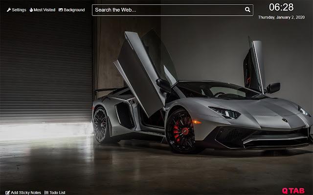 Lamborghini Aventador Wallpaper for New Tab