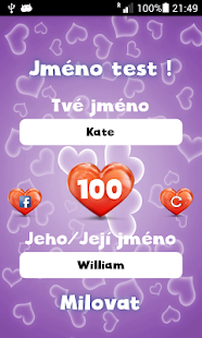 Jméno Láska Test - náhled