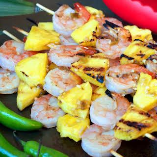 Paleo Chile Pineapple Shrimp Kabobs.