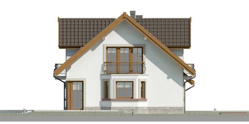 Dom przy Cyprysowej 15 D - Elewacja lewa
