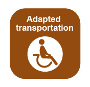 Link to the United Counties of Prescott and Russell website on the page where you can find the information about the adapted transportation offered by PR Transpo