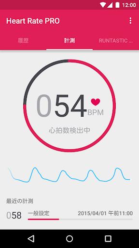 Runtastic Heart Rate PRO 心拍計