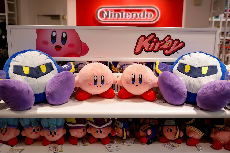 Nintendo's Kirby toys are displayed in the Nintendo store in New York. Picture: REUTERS/BRENDAN McDERMID