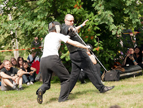 Photo: School of European Swordsmanship. Näytös.