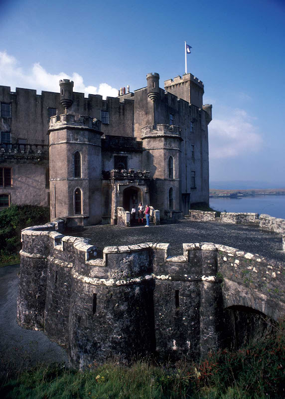 Dunvegan Castle, which dates from the 1200s, on the Isle of Skye in Scotland.