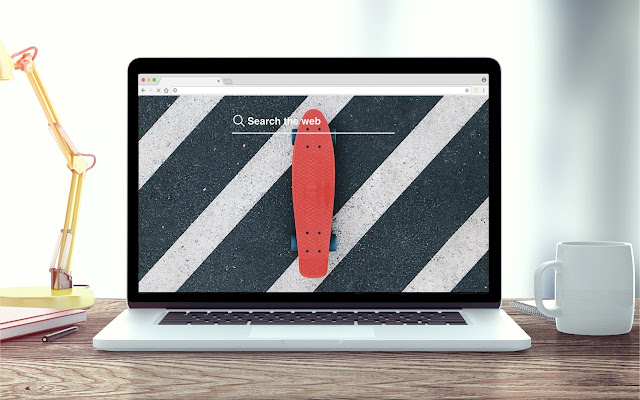 Penny Board New Tab Skateboard Theme