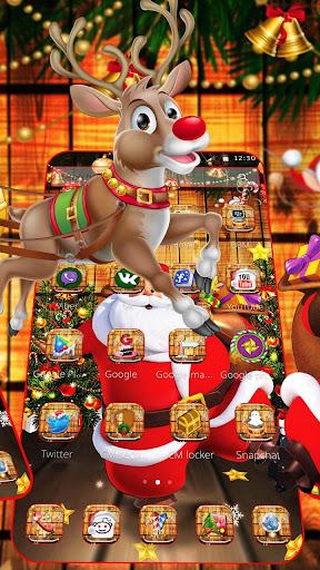 Cartoon Glitter Santa Claus Theme ss2