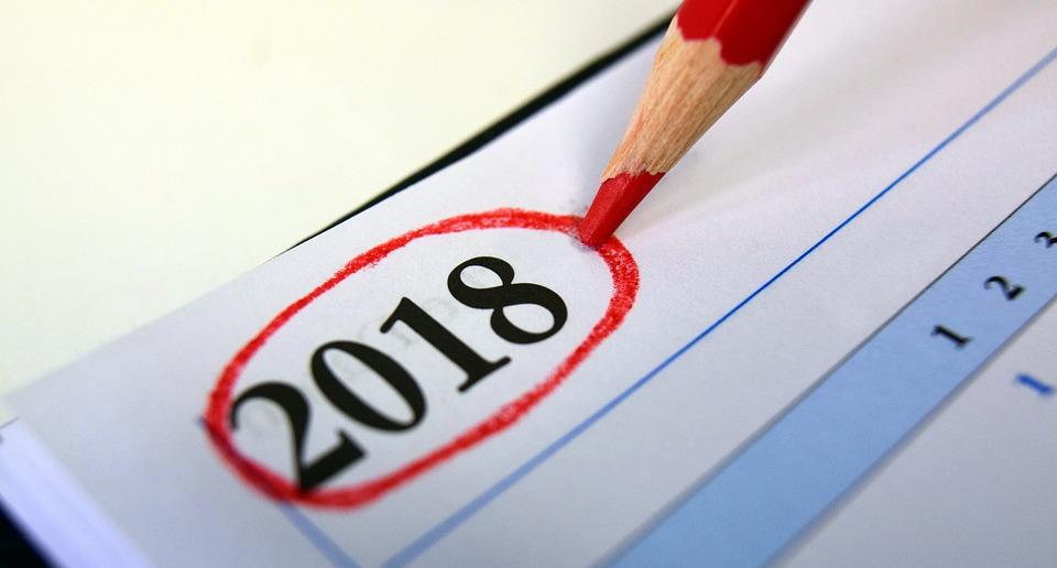 Calendar, 2018, Year, Turn Of The Year, Number