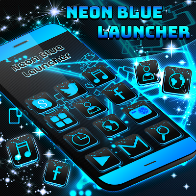 Neon Blue Launcher - screenshot