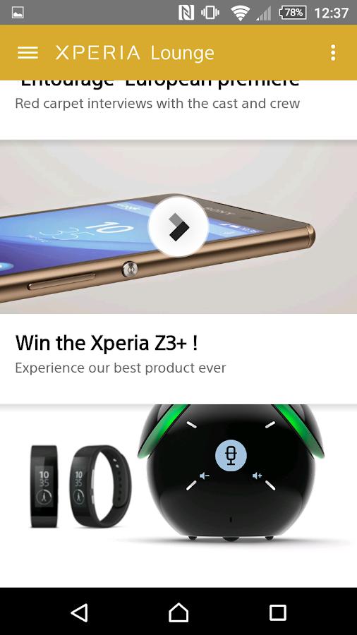 Xperia Lounge - screenshot
