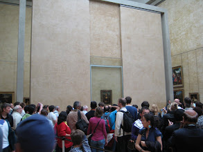 Photo: The Louvre, on the other hand, is overwhelming.  Here, for example, is the back row view of the Mona Lisa.