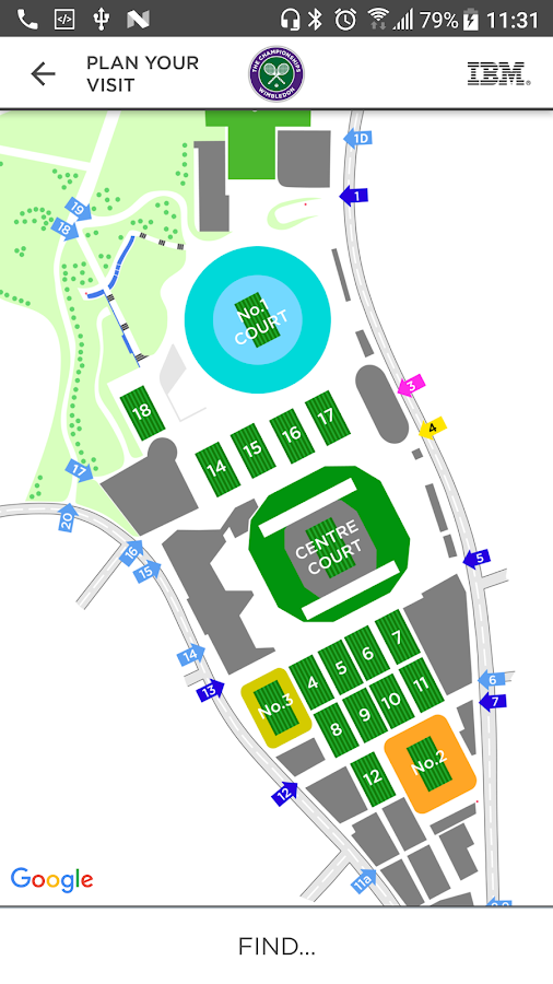 The Championships Wimbledon  Android Apps On Google Play - Us open tennis 2017 map