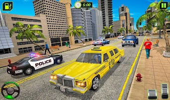 Limo Taxi Driver Simulator : City Car Driving Game