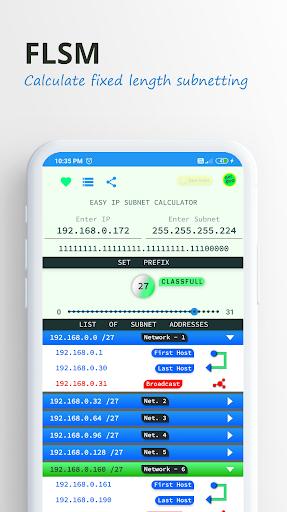 Easy IP Subnet Calculator screenshots 2