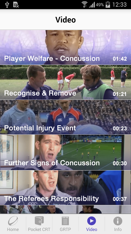 World Rugby Concussion- screenshot