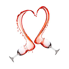 The Wine Heart... by Ramakant Sharda - Abstract Water Drops & Splashes ( wine, highspeed, red, heart, splash, speed, wine glass, glass, high )