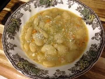 Butter Bean Soup with Parmesan