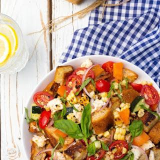 Summer Panzanella Salad with Grilled Corn
