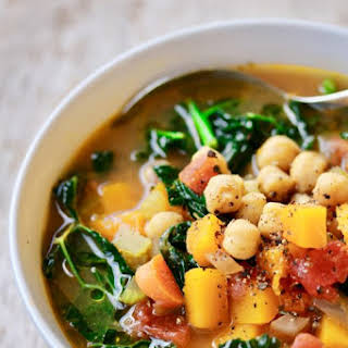 Butternut Squash and Chickpea Stew with Tuscan Kale.