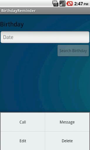 BIRTHDAY REMINDER screenshot