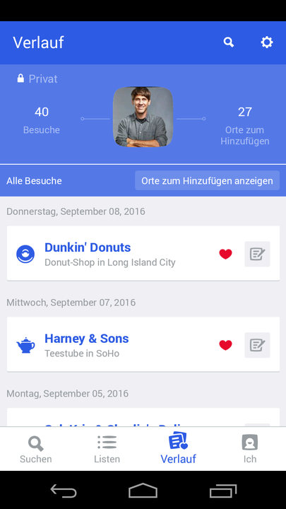 Foursquare – Screenshot